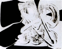 composition abstraite en noir et blanc by pierre gastaud