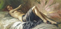 reclining nude by richard durando-togo