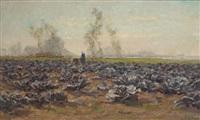le champ de choux rouges by léon riket