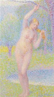 femme nue debout by hippolyte petitjean