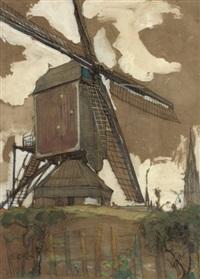 post mill at veghel by piet mondrian