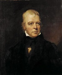 portrait of sir walter scott by colvin smith