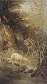 der wolf und das lamm (le loup et l'agneau) by nicholas edward gabe