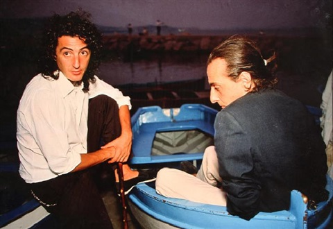 daniele e vittorio in the boat naples by nan goldin