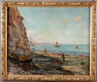 bord de mer à marée basse by ch. lizars