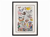 it's raining cats and dogs by james rizzi