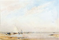 september morning, blakeney, norfolk by arthur gerald ackermann