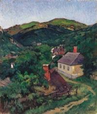 among the hills (nagybánya) by jános krizsán