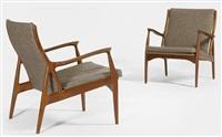 paire de fauteuils by s.a. andersen, erik andersen and palle pedersen