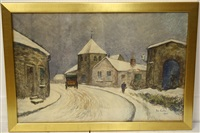 winterse dorpsstraat by siebe johannes ten cate