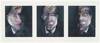 three studies for a self-portrait by francis bacon