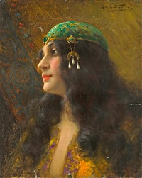 an oriental beauty by antonio torres fuster