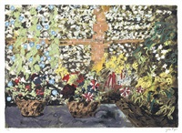 terrace with morning glories by john piper