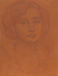 portrait de femme by roman kramsztyk