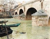 le pont marie à paris by frits thaulow