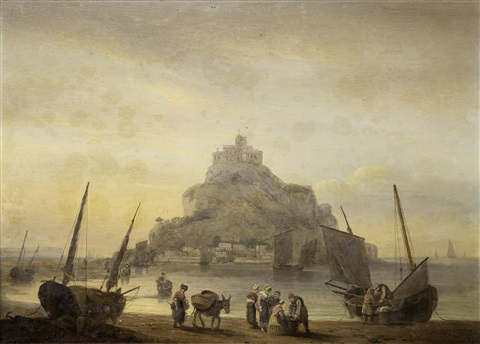 st michaels mount cornwall by thomas luny