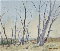 trees in a rural landscape by james ranalph jackson