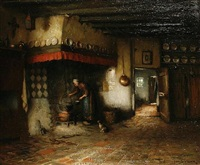 a domestic interior scene by jacques (jacob cornelis) snoeck