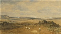 panoramic view over a river valley by samuel bough