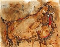startled bull by desmond carrick
