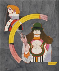 couple ii by richard lindner