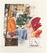 untitled (roci announcement) by robert rauschenberg