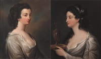 lady parnell (+ lady de vesci; pair) by stephen catterson smith