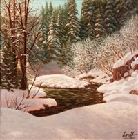 forêt enneigée by piotr livoff ivanovitch