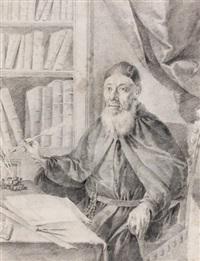moine écrivant dans sa bibliothèque by francesco zugno the younger