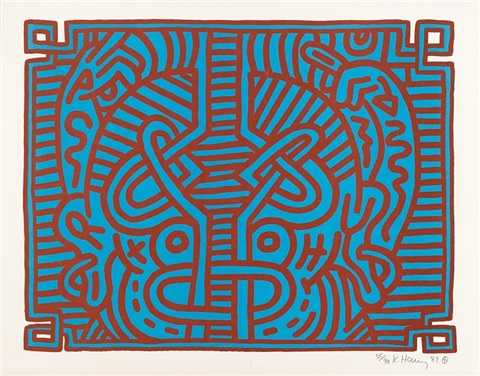one print from chocolate buddha by keith haring