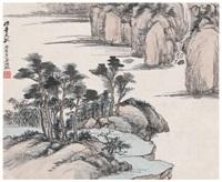 泉崖溪岸图 by wu hufan