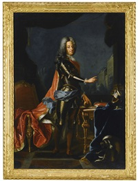 portrait of king william iii of england and portrait of queen mary ii of england (pair) by constantyn netscher