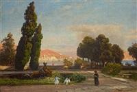 partie vor der isola bella by carl gustav rodde