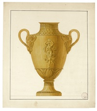 design for a vase by henri auguste