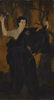 a portrait of michio ito by edmund dulac