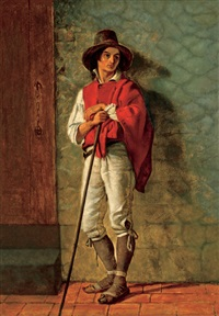 italian peasant by thomas hicks