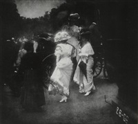 steeplechase day, paris, after the races by edward steichen