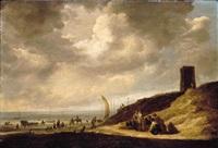 the beach at egmond by maerten fransz van der hulst