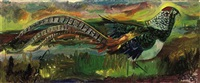 painting of an amhurst pheasant by sven berlin