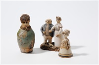 the happy couple (+ 2 others, various sizes; 3 works) by elisabeth ernestine gerst