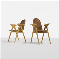 armchairs (pair) by yngve ekstrom