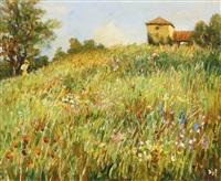 cueillette des fleurs en provence by marcel dyf