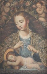 virgen con el niño y ángeles by peruvian school (19)