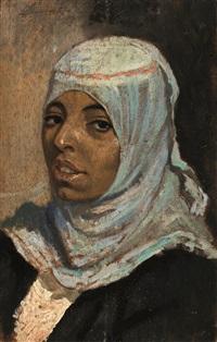 volto di donna araba by eugenio cecconi