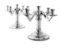 five branch candelabra (pair) by maison odiot
