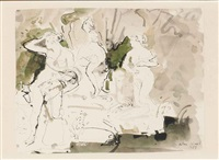 study of garden statuary by john stanton ward