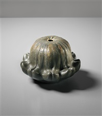 gourd-form vase by jean dunand