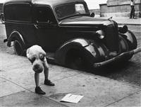 boy bending over, new york city by helen levitt