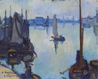 bateaux au port by edmond lempereur