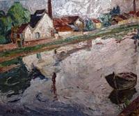 river landscape by maria-mela muter